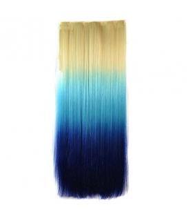 مو تکه ای سه رنگ بلند ABWIN 24 Inch 3 Ombre Color Straight Clip in Hair Extensions