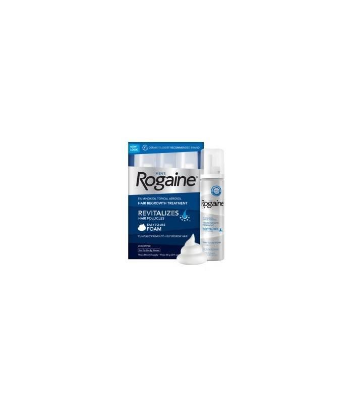 فوم رشد مجدد مو و ضد ریزش مو مردانه روگین Men's Rogaine Foam, Three Month Supply