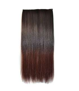 مو تکه ای دو رنگ Abwin Ombre Two-tone Clip in Hair Straight