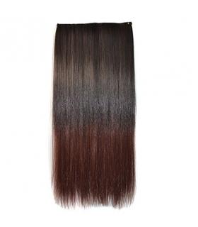 مو تکه ای دو رنگ Abwin Ombre Two-tone Clip in Hair Straight