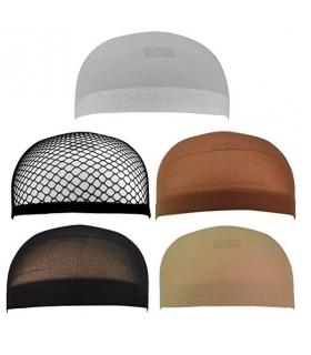 کلاه طاسی چند رنگی Jmkcoz 5pcs Wig Caps Nylon Net Mesh Wig Cap