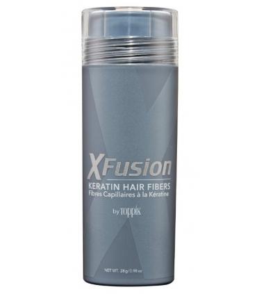 پودر پرپشت کننده مو ایکس فیوژن XFusion Economy Keratin Hair Fibers, Medium Brown 28g