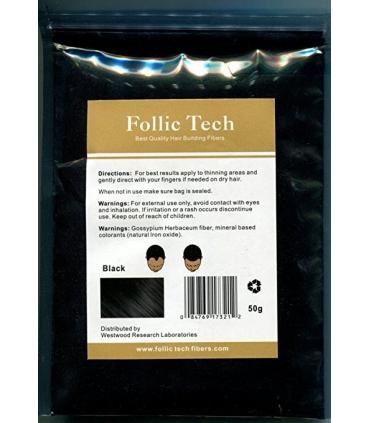 پودر پرپشت کننده مو فولیک تک Follic Tech Hair Building Fibers Refill