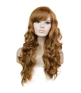 کلاه گیس زنانه بلند HSG Long Fulffy Ladies Wigs with Fringe Bangs TF1129