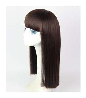 کلاه گیس دخترانه HSG Long Straight Wigs with neat bangs For Girl TF1111
