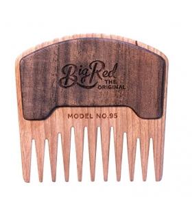 شانه ریش و سبیل چوبی Big Red Beard Combs - Handcrafted No. 95