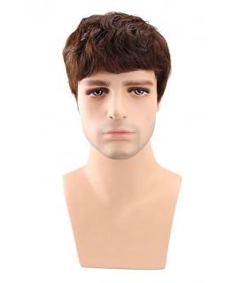 کلاه گیس مردانه کالس با موی انسان Kalyss Men s Short Human Hair Wig Brown Color