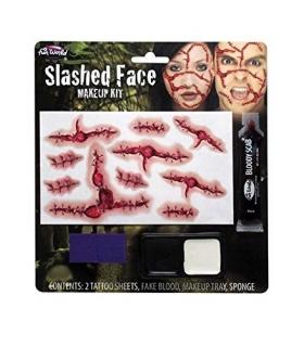 کیت جلوه های ویژه گریم Slashed Face Makeup Kit Costume Makeup