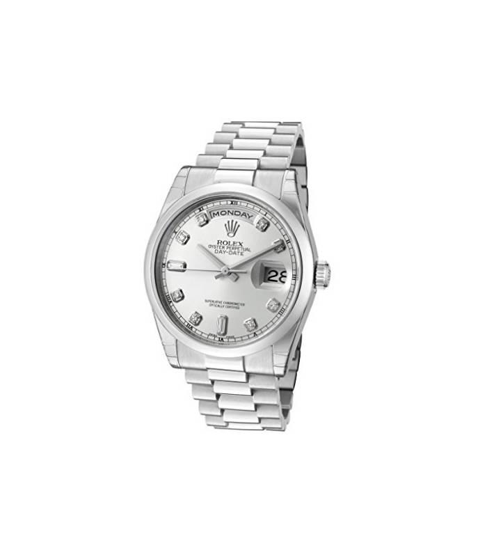 ساعت مچی مردانه رولکس خودکار مدل Rolex Men s Day-Date Automatic White Diamond Silver  