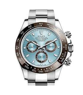 ساعت مچی مردانه رولکس مدلRolex Cosmograph Daytona Ice Blue Dial Platinum Mens Watch 116506IBLSO