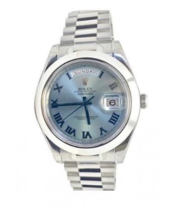 ساعت مچی مردانه رولکس مدل Rolex Datejust II 41mm Ice Blue Dial Platinum President Mens Watch 218206