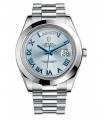 ساعت مچی رولکس اتوماتیک Rolex Day-Date II 41 President Platinum Watch Ice Blue Dial 218206