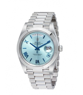 ساعت مچی مردانه رولکس مدل Rolex Day-Date Automatic Ice Blue Dial Platinum Mens Watch 228206IBLSRP