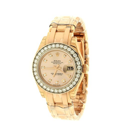 ساعت مچی زنانه رولکس اتوماتیک Rolex Lady Datejust Champagne Dial 18K Pink Gold Automatic Watch 179175CRJ