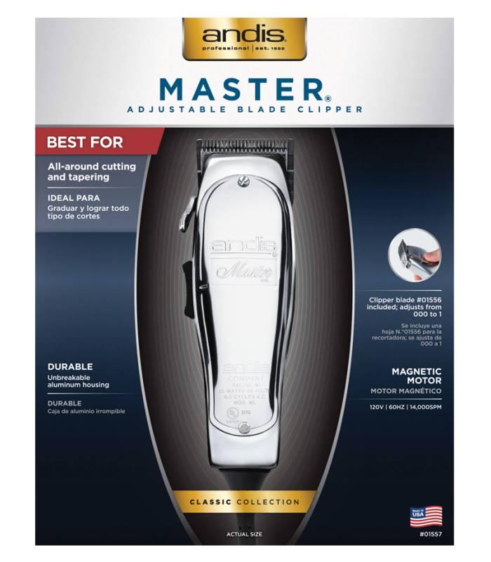 ماشین اصلاح سر و صورت اندیس مدل Andis Master Hair Clipper, Silver 01557