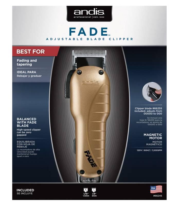 ماشین اصلاح سر و صورت اندیس مدل Andis Fade Adjustable Blade Clipper Gold 66245