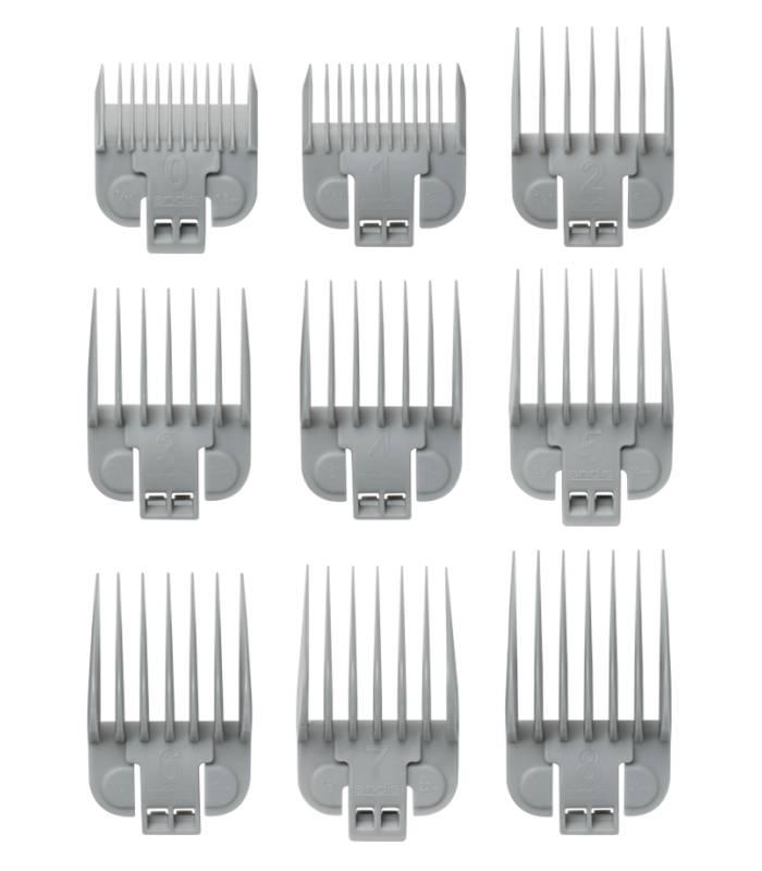 ست شانه ماشین اصلاح اندیس Andis 9pc Snap-On Blade Attachment Comb Set 66350 |