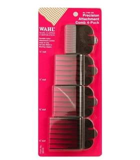 دو بسته 4 تایی شانه راهنمای اصلاح وال Wahl Attachable Plastic Comb