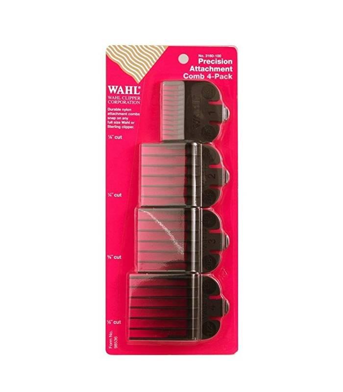 دو بسته 4 تایی شانه راهنمای اصلاح وال Wahl Attachable Plastic Comb |