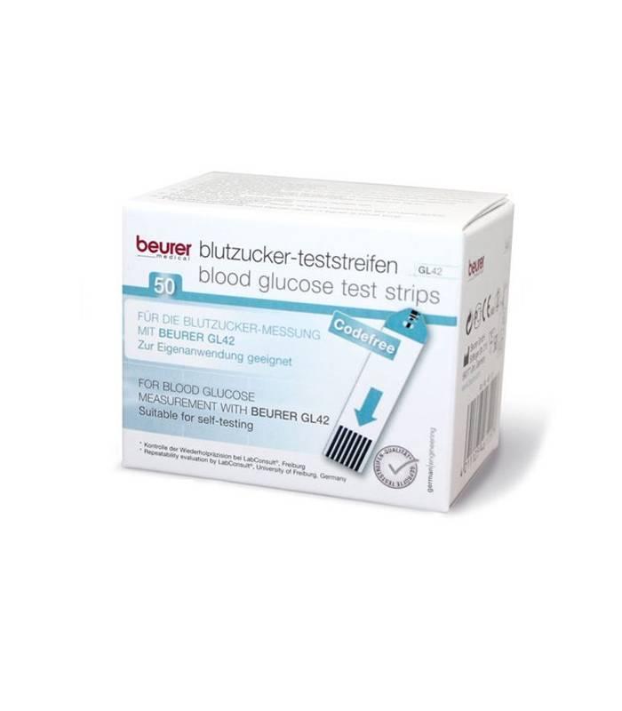 نوار تست قند خون بیورر مدل Beurer GL42 Test Strips Blood Glucose Meter