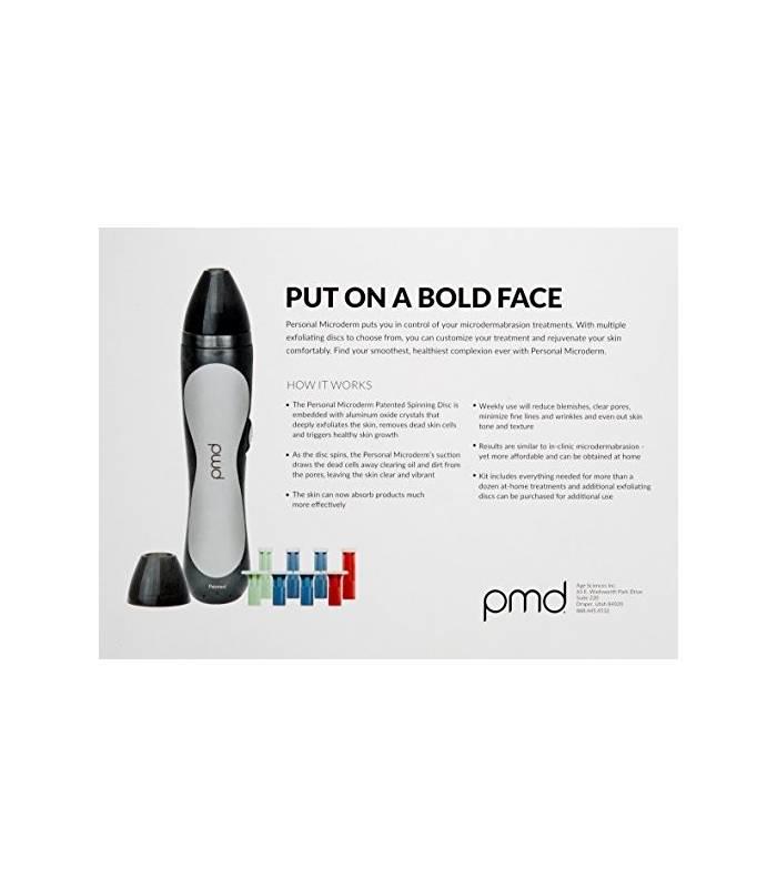 لیزر خانگی پوست مردانه پی ام دی PMD Personal Microderm Man for Face, Black