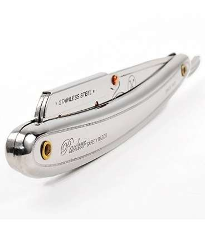 تیغ و وسته تیغ آرایشگری پارکر Parker SR1 Stainless Steel Straight Edge Barber Razor