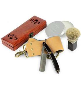 "دسته تیغ و ست اصلاح داناوان Donovan Luxury 7/8"" damask pattern straight razor"