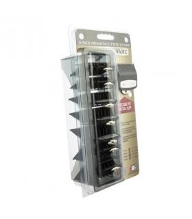 ست شانه فلزی 8 تایی ماشین اصلاح وال از 3 میلیمتر تا 25 میلیمتر Wahl Professional Premium Black Cutting Guides