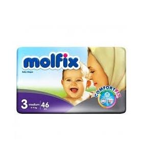 پوشک مولفیکس مدل دوقلو سایز 3 بسته 46 عددی Molfix Twin Size 3 Diaper Pack of 46