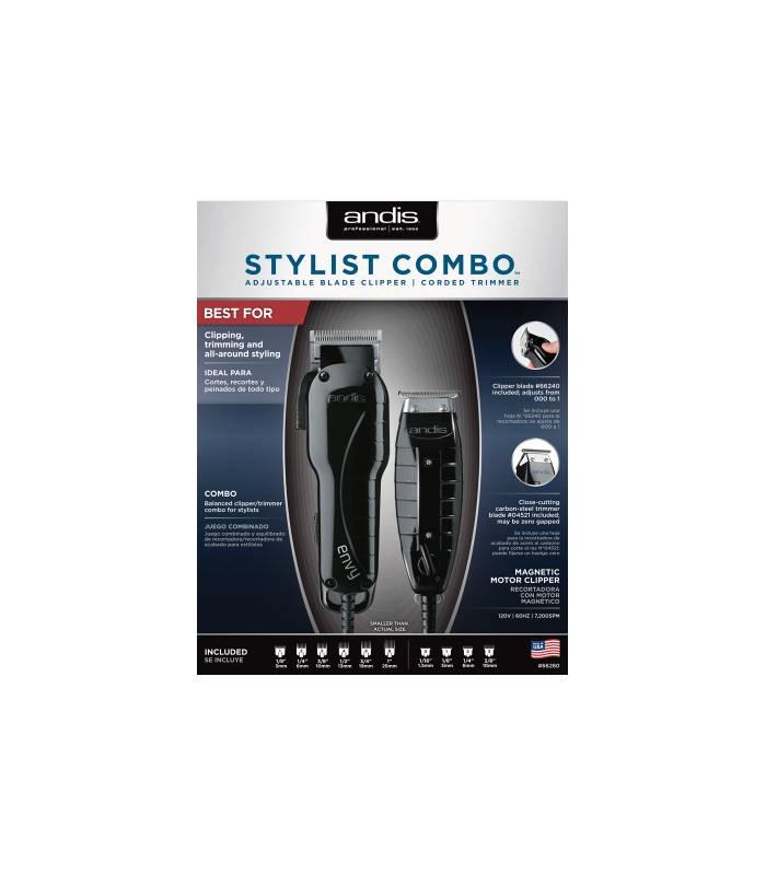 ماشین اصلاح سر و صورت اندیس مدل Andis Envy Clipper & T-Outliner Trimmer Stylist Combo
