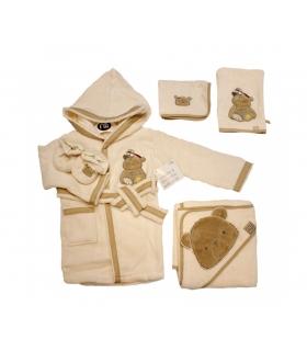 ست حوله 5 تکه مادرکر طرح خرس Mothercare 1145 Teddy Baby Towel Piece