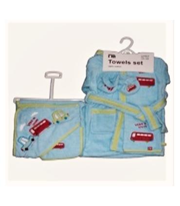 ست حوله 5 تکه مادرکر طرح ماشین Mothercare 1662 Baby Towel Piece