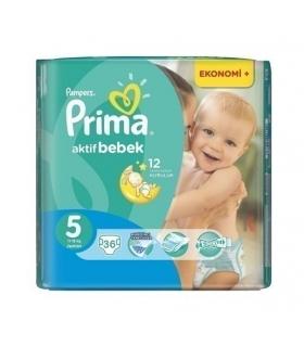 پوشک پمپرز پریما بسته 36 عددی سایز 5 Pampers Prima 1419 Diaper Size 5 Pack of 36