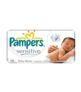 دستمال مرطوب کودک پمپرز پریما بسته 56 عددی Pmpers Prima 210 Cleansing Wipes For Baby
