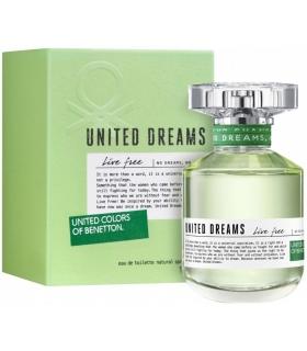 عطر زنانه بنتون یونایتد دریمز لیو فیری ادو تویلت Benetton United Dreams Live Free Eau De Toilette for Women