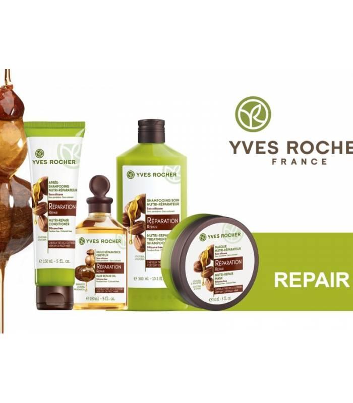 ماسک مو ترمیم کننده موهای آسیب دیده ایوروشه Yves Rocher Nutri repair Mask