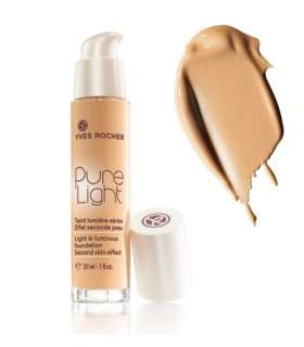 کرم پودر پمپی پیور لایت ایوروشه رنگ بژ 200 Yves Rocher Pure Light Foundation