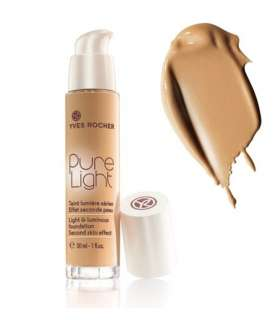 کرم پودر پمپی پیور لایت ایوروشه رنگ بژ 300 Yves Rocher Pure Light Foundation