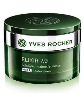 کرم شب اکسیر 7.9 ایوروشه Yves Rocher Elixir 7.9 Youth Night Care Cream