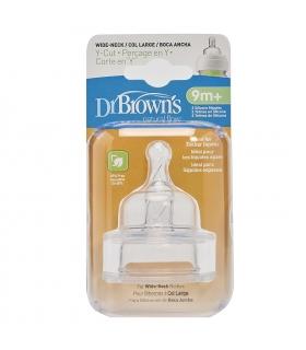 سر شیشه دکتر براون 2 عددی 9 ماهه لول 4 دی 363 Dr Brown's Teats D363 for 9m Level 4