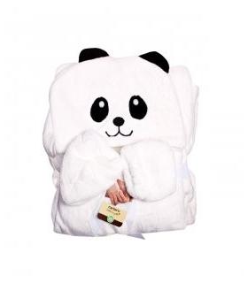 پتوی کلاهدار کارترز با پاپوش سفید طرح پاندا Carters Panda Blankets