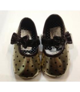 پاپوش کودک مادرکر طلایی قهوه ای خالدار Mothercare P630 Baby Footwear