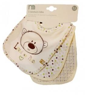 پیشبند مادرکر بسته 3 عددی طرح خرسی Mothercare 1412 Apron Pack Of 3