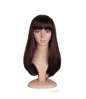 کلاه گیس مپ آف بیوتی زنانه متوسط مدل فشن چتری و حالت دار MapofBeauty Fashion Girl Medium Curly Flat Bangs Wigs