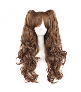 کلاه گیس مپ آف بیوتی دخترانه بلند مدل دو گوشی MapofBeauty Long Curly Clip on Ponytails Wig