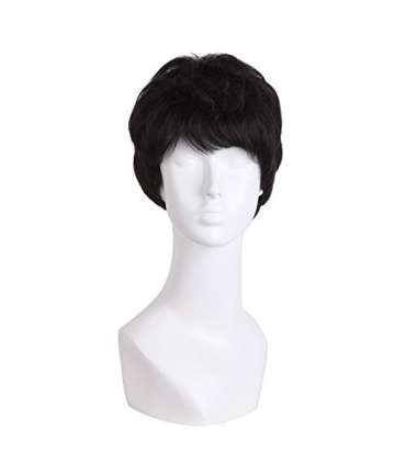 کلاه گیس مپ آف بیوتی مردانه مدل حالت دار و کوتاه فشن MapofBeauty Straight Short Curly Fashion Wig