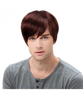 کلاه گیس اس تی فنتسی مردانه مدل لخت کوتاه STfantasy Mens Wig Short Straight Synthetic Hair