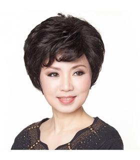 کلاه گیس گو اکشن زنانه طبیعی مدل کوتاه و کمی حالت دار Gooaction Short Natural Women Wig