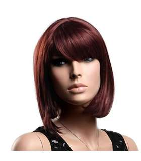 کلاه گیس گو اکشن زنانه مدل کوتاه و لخت چتری دار Gooaction Oblique Bangs Short Hair Wig