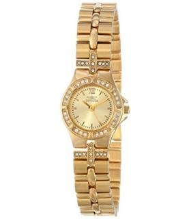 ساعت طلا زنانه اینویکتا 0134 وایلدفلاور کالکشن Invicta Women's 0134 Wildflower Collection 18k Gold